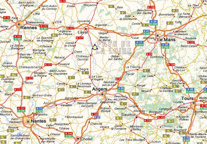 Carte Detaillee De La Mayenne 53 | My blog